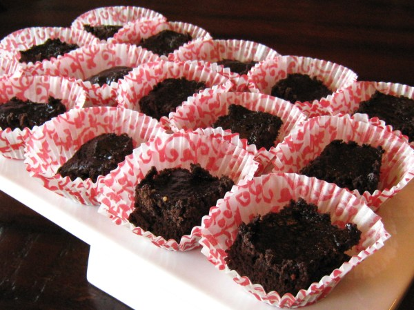 Double Chocolate Chip Peanut Butter Brownie Bites