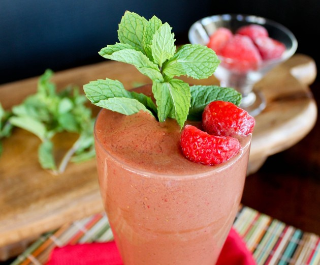 strawberry chocolate smoothie2